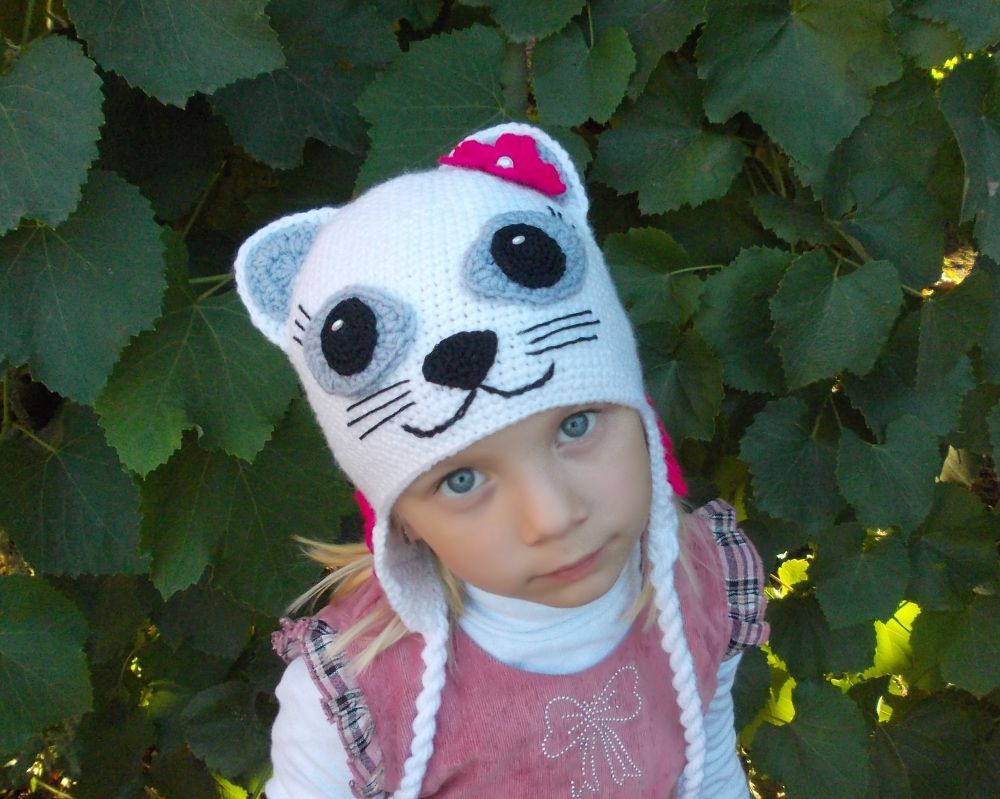 Cómo atar un sombrero de gato para adultos. Sombrero con orejas de ...