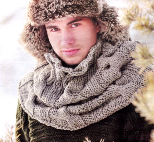 Bocados tejidos para hombres. Un hermoso ronquido.