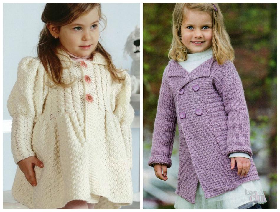 Вязание спицами пальто для девочки 3 года схема 53
