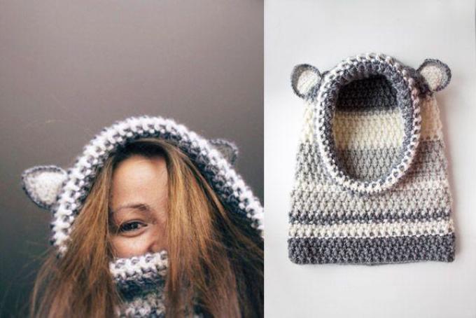 Cómo atar una bufanda para niños. El planeta de tejer.