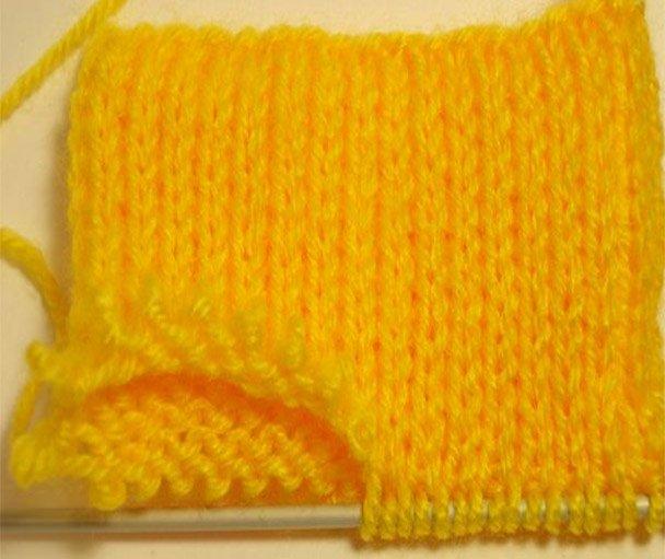 Вязание ажурной резинки по кругу 36