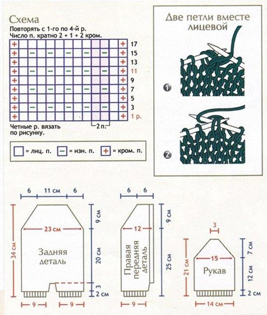 Схемы комбинезона для новорожденного