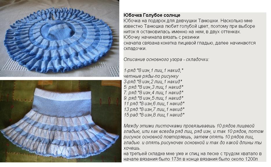 Вязание юбки на девочку 2 года с описаниями и схемами 1
