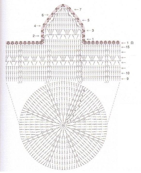 Вязание крючком схемы ушек 78
