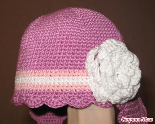 33c5b7a36f44c Tejer sombreros con orejas para el niño de ganchillo. Gorra con ...