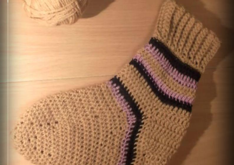 Вязание носков крючком видео-уроки 84
