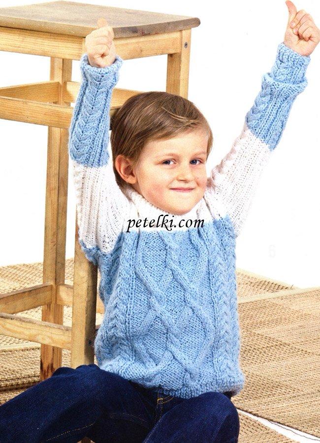 Una descripción detallada de cómo atar un suéter a un niño pequeño ...