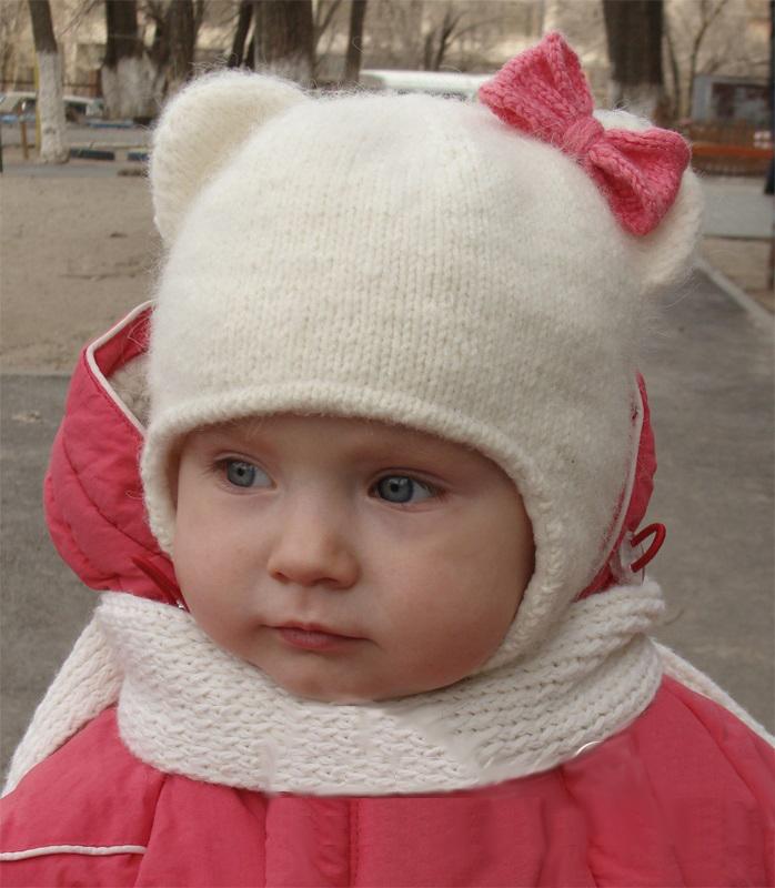 Sombrero de punto de primavera para bebés. Sombrero infantil con ...