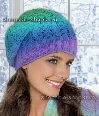 вязаная шапка косами на девушку видео шапка с крупной косой