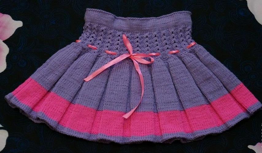 Вязание юбки для ребенка 362