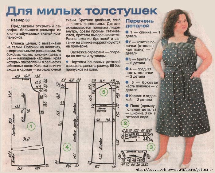 Выкройки сарафанов » Бесплатные выкройки одежды, шьем 48