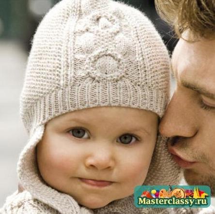 Вязание спицами узоры на шапочки для девочек до года