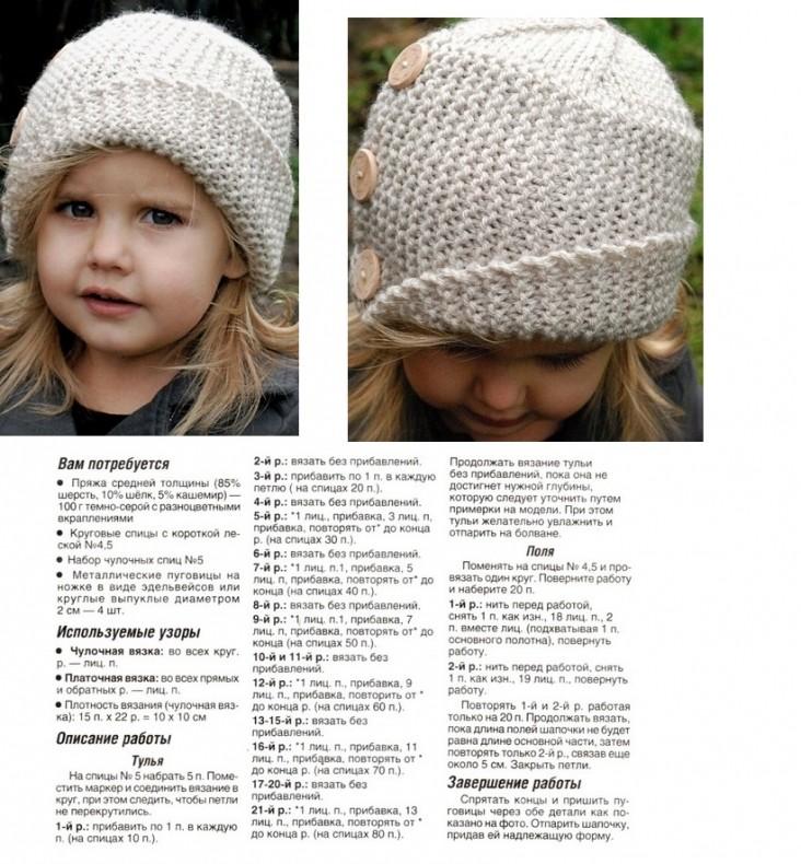 Sombrero infantil con agujas para. Tejer para niños: reglas importantes.
