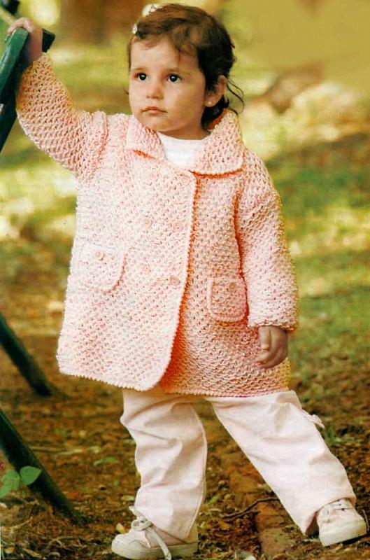 вязанные кардиганы для малышей девочка пальто спицами для девочки