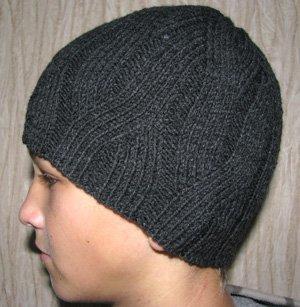 Вязание шапки для подростка и мужчины. Схема вязания 88